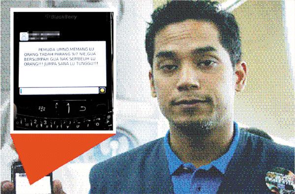 Ketua Pergerakan Pemuda UMNO Diugut Bunuh