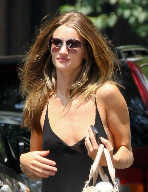 Rosie Huntington-Whiteley Relaxing Before Transformers 3 Premiere