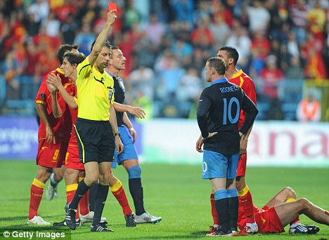 Rooney Sees Red as England Qualifies for EURO 2012