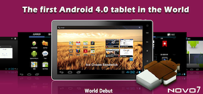 NOVO 7 The First Android 4.0 Ice-Cream Sandwich Tablet – Video