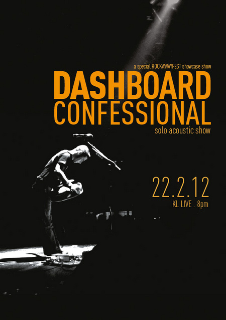 Dashboard Confessional Live In Kuala Lumpur on February 2012
