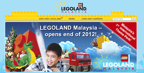 Legoland Malaysia on Track to Open by the End of 2012