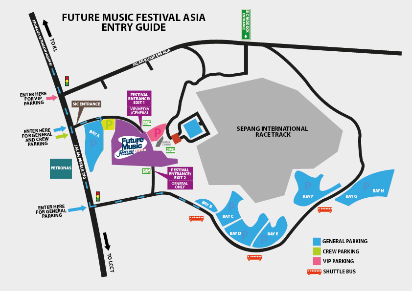 Event Update : Venue map for the Future Music Festival Asia 2012