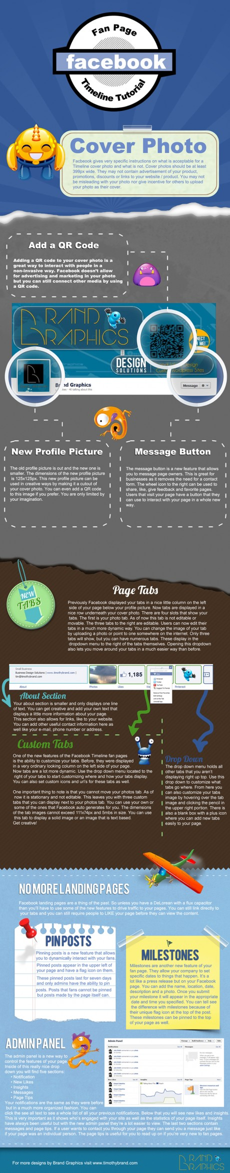 Infographic: Facebook Fan Page Timeline Tutorial