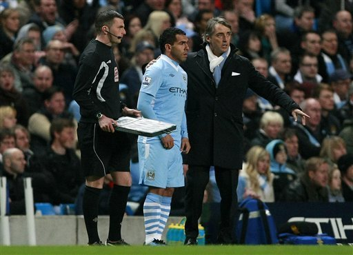 Returning Carlos Tevez Inspire Man City in 2-1 win over Chelsea