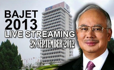 Watch LIVE – Budget 2013 Malaysia – 28th Sept – 4 p.m