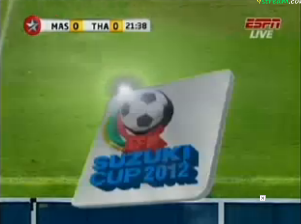 Watch LIVE Malaysia v Thailand AFF Suzuki Cup semi-final 2012