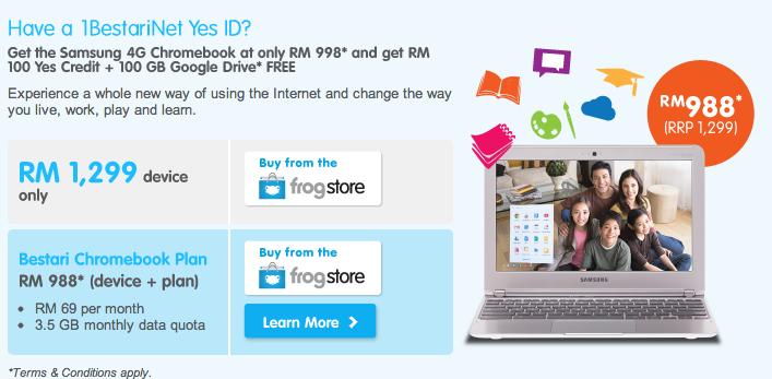 YTL unveils Samsung 4G Chromebook
