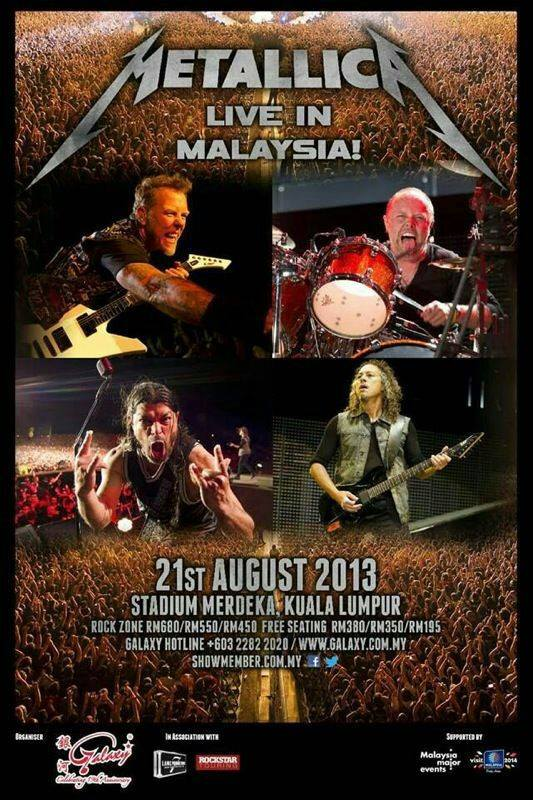Metallica LIVE in Malaysia August 21st 2013