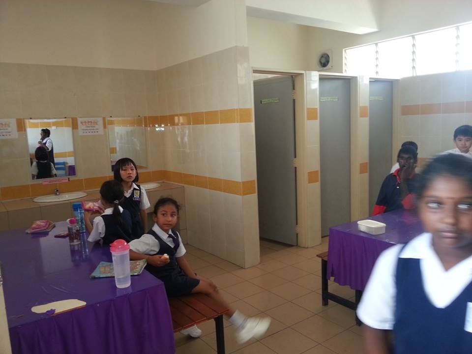 Non Muslims Students forced to have recess in Toilet
