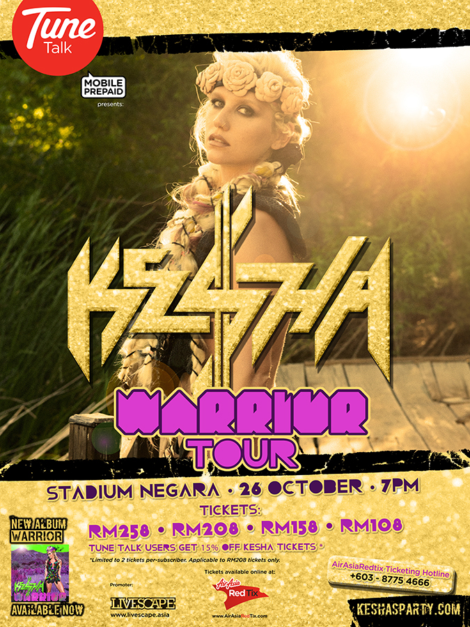 (Official) Ke$ha Warrior Tour Malaysia CANCELED