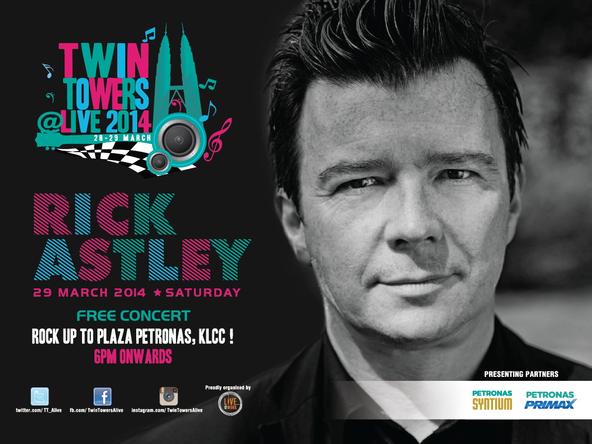 Rick Astley Will Never Give Up For Twin Towers Alive 2014