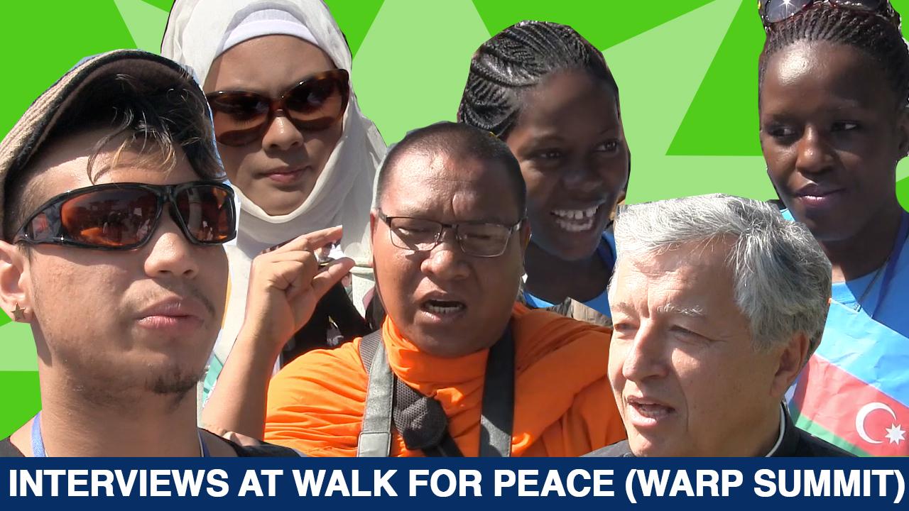 Interviews at Walk for World Peace (WARP Summit) 2014 (Video)