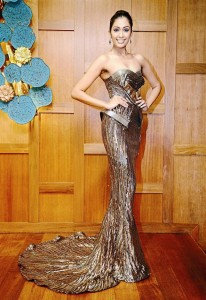 Sabrina will be wearing this evening gown during Miss Universe beauty pageant.