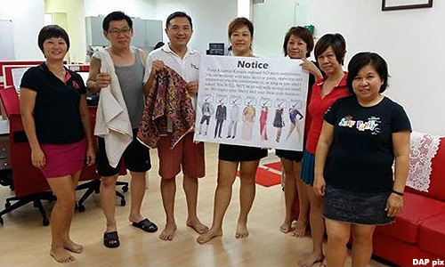 Kinrara assemblyman Ng Sze Han mocks dress code rule