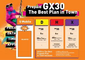 U Mobile Prepaid Plan